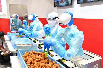 会場ではAIやIoTを生かす仕組みやロボットがかなえる食産業の未来を提案する