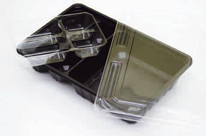 仕込みに便利な副菜カセット ご飯たっぷりスペース250~300g入ります! 蓋の上に、おしぼり、箸をのせる商品設計です!