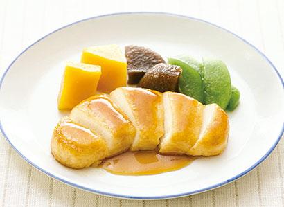 やさしい素材(たんぱく21チキン)を使用した鶏の照り焼き