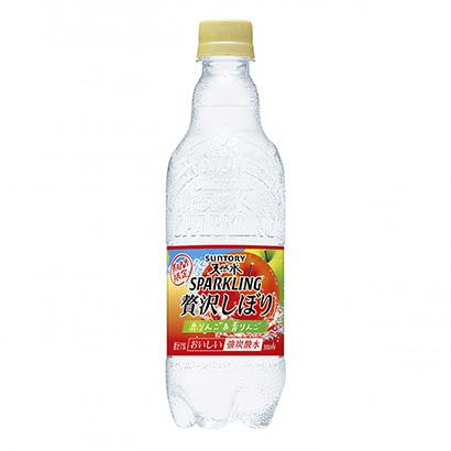 「サントリー天然水スパークリング 贅沢しぼり 赤りんご&青りんご」発売