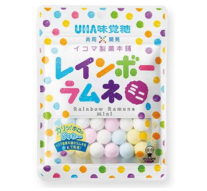 UHA味覚糖、関西で人気「レインボーラムネミニ」 首都圏外食とコラボ