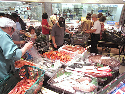 日本海の新鮮な魚介類が一番の売りだ