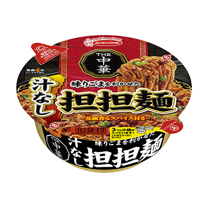 「THE中華 練りごまを利かせた汁なし担担麺」発売(エースコック)