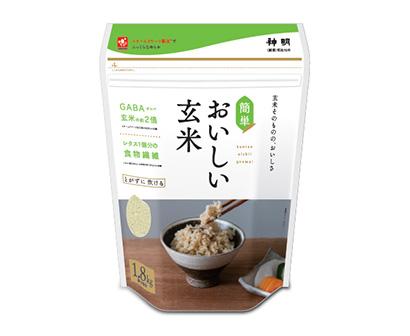 高機能性米特集:神明 「おいしい玄米」発売時売上げ2.7倍