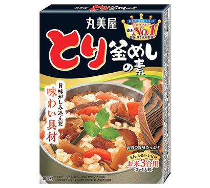 「とり釜めしの素」具材をじっくり煮込み、鶏肉・たけのこ・にんじん・しいたけ・わらびの旨味がぎゅっとしみ込んでいます。 134g 265円
