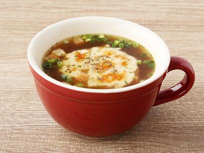 まる麸のオニオングラタンスープ