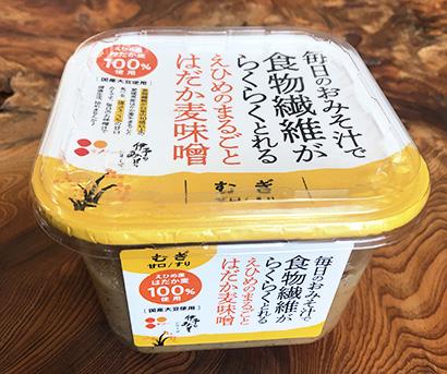 介護食品特集:義農味噌 「えひめのまるごとはだか麦味噌(麦)」 愛媛県産麦1…