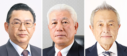 左から吉田康氏、藤井幸一氏、永谷栄一郎氏