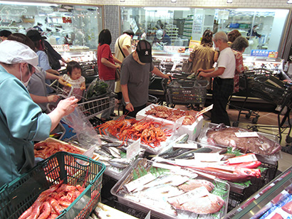 一番人気は北陸の新鮮な海産物