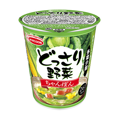 「どっさり野菜 ちゃんぽん」発売(エースコック)