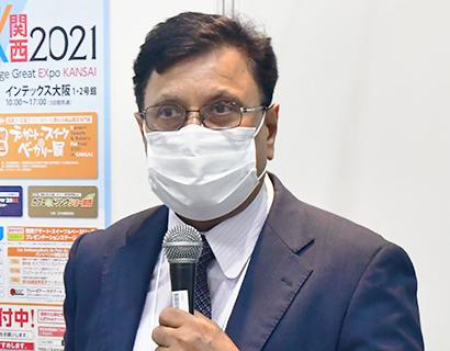 FABEX関西2021:合同特別セミナー=亀田製菓・ジュネジャ副社長 Bet…